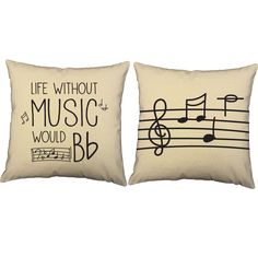 Without music, your life would be flat! These fantastically punny pillows are a wonderful way to add a pop of color and personality to your space. Keep them for yourself, or give them to the music lov
