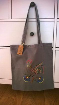 Handmade in Jerutki: Torba z kogutem / shopping bag