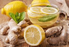 How to Make Cleansing Ginger Lemon Tea With Many Health Benefits. Detox Ginger Lemon Tea (makes 4 cups – 1 L) 2 inches cm) ginger root 4 cups L) filtered water 2 tbsp ml) organic lemon juice tsp ml) whole stevia leaf or honey Ginger Lemon Tea, Ginger Juice, Green Tea Lemonade, Weight Loss Herbs, Ayurvedic Herbs, Fat Burning Detox Drinks, Real Food Recipes, Real Foods, Health Tips