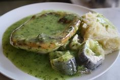 pie and mash with parsley liquor. this is the traditional kind where the pie is made from eels
