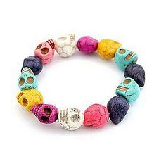 o novo sell explosão crânio cor personalizada bracelete de b10 – BRL R$ 9,78