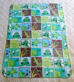 This cute fleece blanket is the perfect size for a baby/toddler.  Very soft and comfy!