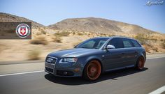 Audi B7 S4 Avant Dolphin Grey HRE P44SC Brushed Copper Rolling | Flickr – 相片分享!