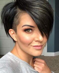 98 Awesome Short Hairstyles & Haircuts for Women In 50 Latest Short Haircuts for Women 40 Chic Short Haircuts Popular Short Hairstyles for 39 Cute Short Haircuts for Women Pin On Short Hair Undercut. Pretty Short Hair, Short Straight Hair, Short Hair Cuts For Women, Short Hairstyles For Women, Straight Hairstyles, Short Shaved Hair, Bob With Shaved Side, Shaved Side Haircut, Short Pixie Bob