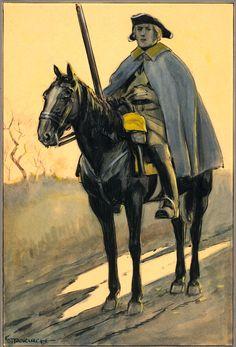 Västgöta regiment of horse by Einar von Strokirch