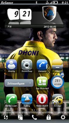 Symbian Belle 3D Clock Widgets with IPL Team's Logo