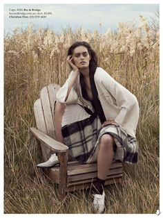 Coming Undone: Jenna Klein By Holly Blake For Elle Australia August 2014 - Skirt Dior