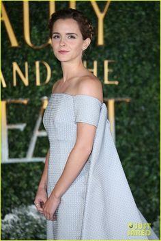 Emma Watson & Dan Stevens Team Up For 'Beauty & the Beast' London Premiere