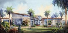 Eye level watercolor architectural renderings by Vladislav Yeliseyev | Vladislav Yeliseyev Architectural Illustration