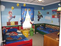 If we ever move & get a bigger house and get to decorate the kid's rooms I think the boys would LOVE this.
