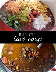 Ranch Taco Soup Recipe from Hip2Save.com. For those nights that are a little bit chilli, you may want to make this wonderful and hearty soup.