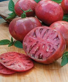 Cherokee Purple Heirloom Tomato | 2014 Garden - indeterminate (4-6 feet) - 10-12oz fruit - 80-90- days