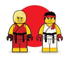 """LEGO Ken Ryu"" by Dan Shearn $20.00"