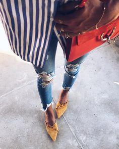 FWIS stripes x mustard