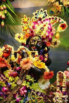 .Lord Krishna, Krishna Balarama Mandir, Vrindavana, India.
