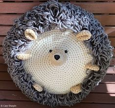 Hedgehog Pillow Crochet Pattern Adorable hedghog will make a great floor pillow as well as a couch decor. It`s also a great idea for an accessory to a woodland theme nursery. Crochet Pillow Patterns Free, Baby Blanket Crochet, Crochet Baby, Afghan Crochet, Afghan Patterns, Square Patterns, Crochet Granny, Cute Crochet, Crochet For Kids