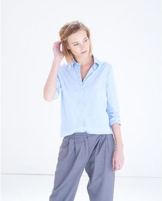 Blue Classic Cotton Concealed Placket Shirt #atterleyroad #style #effortless #modern #classic #outfit #fashion #inspiration