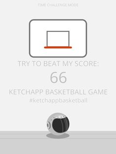 I scored 66 points in #ketchappbasketball ! Can you beat my score? https://itunes.apple.com/app/ketchapp-basketball/id1111665247