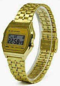80s gold tone digital watch
