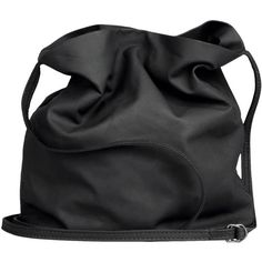 ANN DEMEULEMEESTER Medium leather bag (16.215 RUB) ❤ liked on Polyvore featuring bags, handbags, shoulder bags, accessories, purses, black, leather hand bags, handbag purse, leather handbags and leather man bags