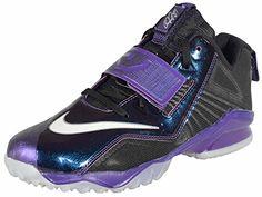 wow Nike Boys' CJ Trainer 2 Shoes-Black/Silver/Court Purple