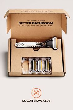 Give your guy a subscription to the dollar shave club.