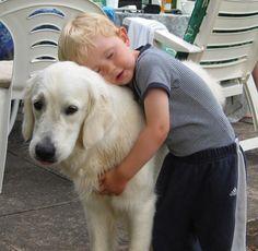 a boy & his dog...