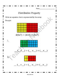 math worksheet : distributive property matching game  properties math  pinterest  : Distributive Property Of Multiplication Worksheets 6th Grade