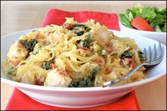 Kale low-carb pasta