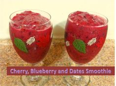 Cherry Blueberry and Dates Smoothie