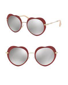 3ea17a07e153f7 Miu Miu   Multicolor 52mm Heart Sunglasses   Lyst Lunettes De Soleil,  Lunettes De Soleil