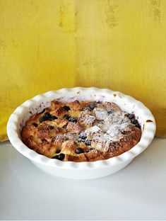Blueberry and Lemon Bread Pudding - The Happy Foodie