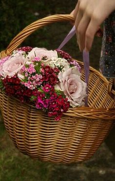 Picking a lovely bouquet for a guests room. They will be arriving late this afternoon.