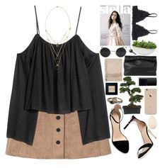 """"""".."""" by imthinkinginyou ❤ liked on Polyvore featuring Glamorous, Zara, Abercrombie & Fitch, Maison Margiela, Nearly Natural, Bobbi Brown Cosmetics, Marie Turnor, Monki, NARS Cosmetics and Distinctive Designs"""