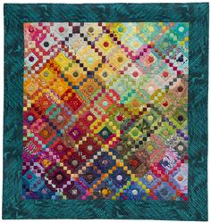 """""""Upstairs, Downstairs"""" by Timna Tarr. 3rd place winner,  2013 Jacob's Ladder themed New Quilts from an Old Favorite annual contest, National Quilt Museum"""