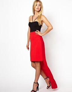 AQ AQ Carrington Skirt With Chiffon Train
