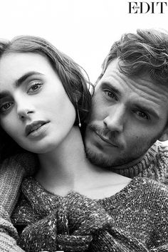 Lily Collins and Sam Claflin for The Edit, October 2014