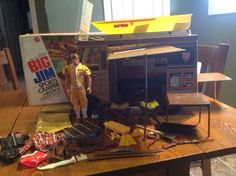 Big-Jim-Sports-Camper-Boat-Set-w-Accessories-Box-1972-Mattel-Vintage