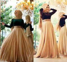 Gorgeous Evening Dresses 2016 Evening Gowns Crew Collar Elegant Abaya Islamic Muslim Kaftan Dubai Long Sleeves Formal Evening Prom Dress With Bling Beaded Waist Islamic Evening Dresses From Lovemydress, $103.41| Dhgate.Com