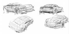 2015 Ford Mustang sketches