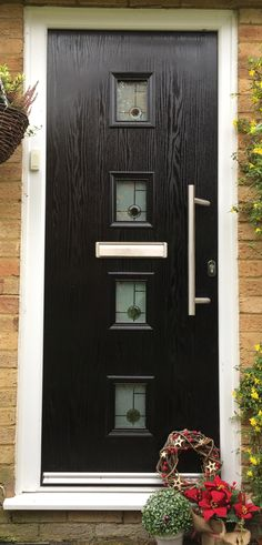 Black Composite Door. Design and  Order Online with Adoored - we have no pushy salesmen so no rush! Interest Free Credit. Free Survey.