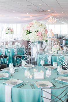 Turquoise and Blush wedding, #boldlychicevents