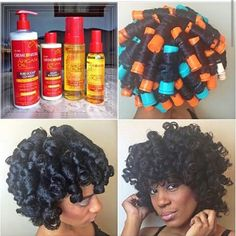 loving this perm rod set protective style on Romi Cox using CremeofNature produc. loving this perm Roller Set Natural Hair, Natural Hair Tips, Natural Hair Journey, Natural Hair Styles, Natural Curls, Vaseline For Hair, Perm Rod Set, Hair Essentials, Coily Hair