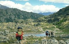 "Historic Chilkoot Trail Backpacking Alaska - Part of the Klondike Rush and includes what they call the ""Golden Staircase"".  33 hard vertical miles, only accessible by foot."