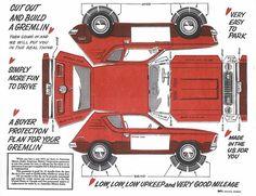 1972 AMC Gremlin cut-out by loudpop, via Flickr