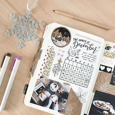 Monthly Page Spread | Bullet Journal Ideas | bullet journal with photos | Ideas for planners and journals