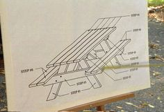 Build a Picnic Table from Two-by-six Treated Lumber Cut to Dimension in an Assembly Line to Speed the Building Process