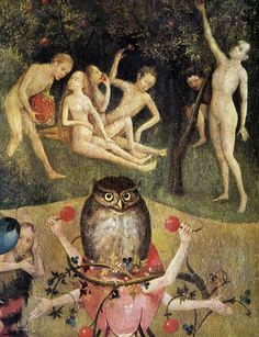 bosch garden of earthly delights : gluttony, lust , greed, rage, wrath, envy, pride,