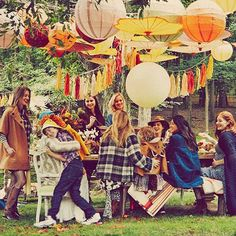 Blake Lively Documents Perfect Autumnal-Themed Baby Shower For Preserve #refinery29  http://www.refinery29.com/2014/10/76072/blake-lively-baby-shower-photo#slide-1