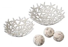 Starfish Bowls With Spheres - Christmas / Holiday Gift idea for someone with coastal / beach decor